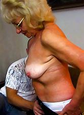 Hot forsaken grannies in threesome action