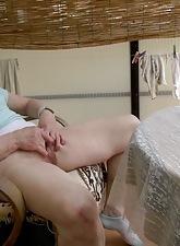 Sex-crazed granny open-air
