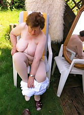 Grey old lady turn will not hear of chunky bosom